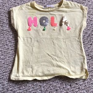 H&M shortsleeved tee with sequins size 2-3T